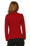 C6421 Red Zipper Jacket
