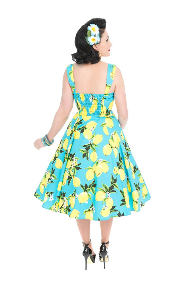 3558 Lemon Sundress in Aqua Blue