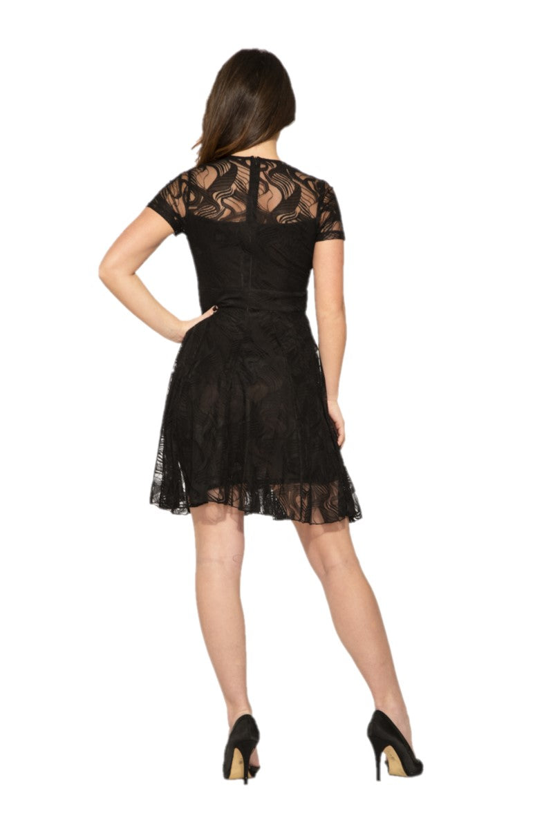 V020746 Lacey Black Dress