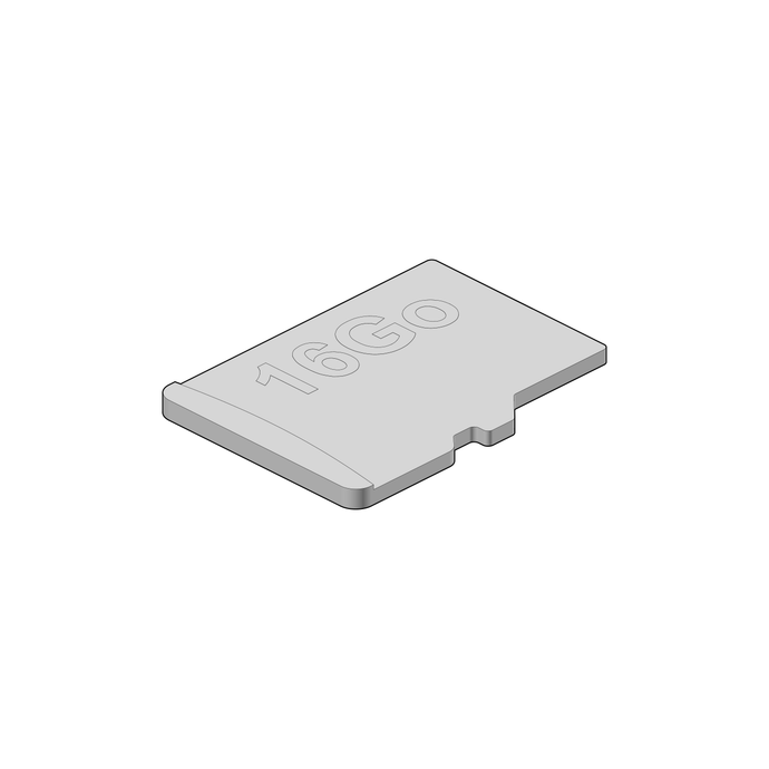 Additional pre-installed micro SD card 16 GB