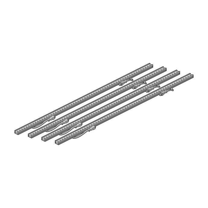 Set of 4 LED bars 1 meter
