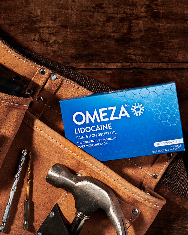 Omeza lidocaine for pain and itch relief topical omega-3 oil