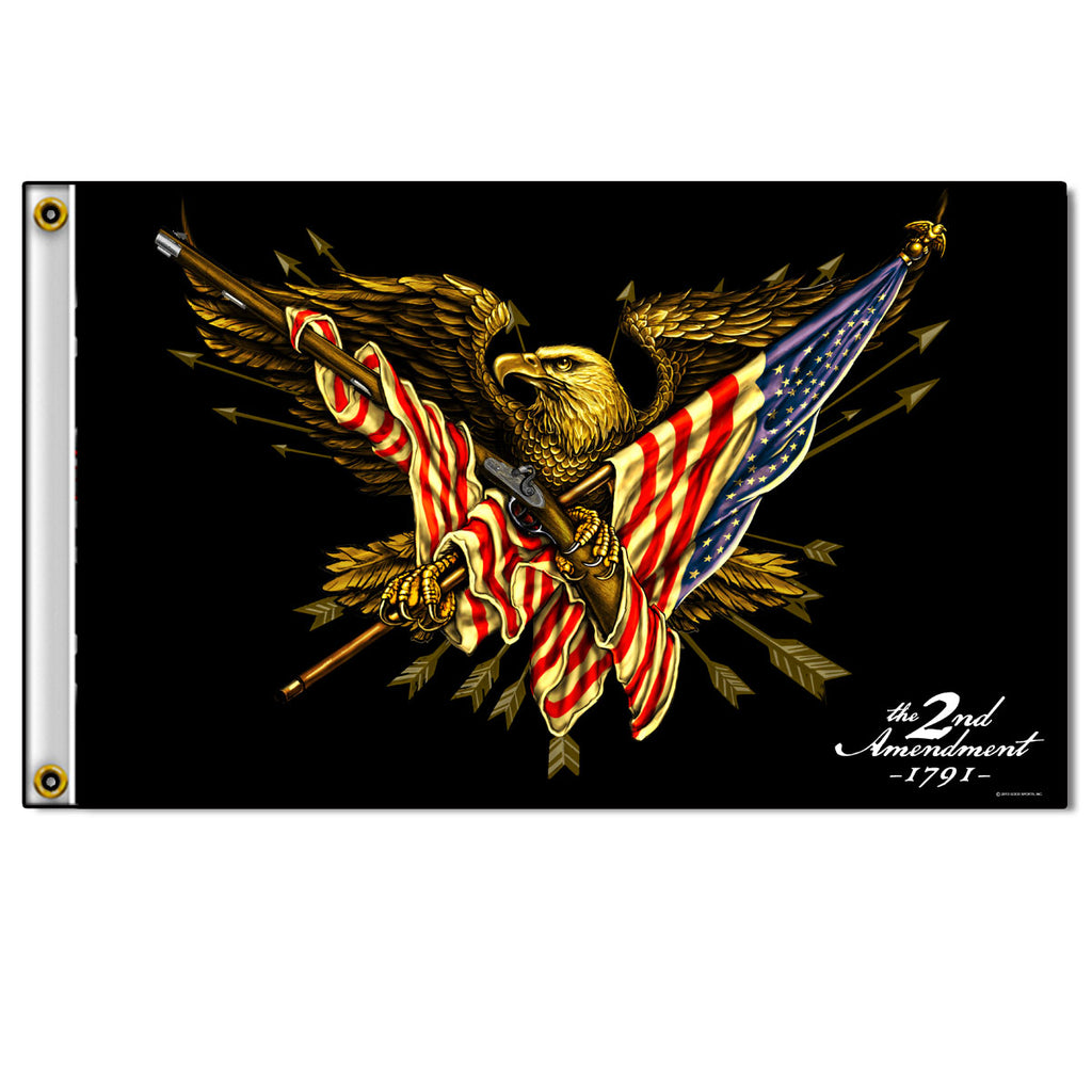 2nd Amendment Eagle Flag