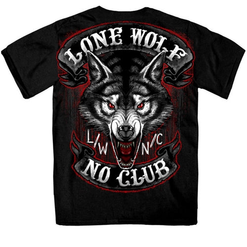 Men's Jumbo Lone Wolf Double Sided T-Shirt