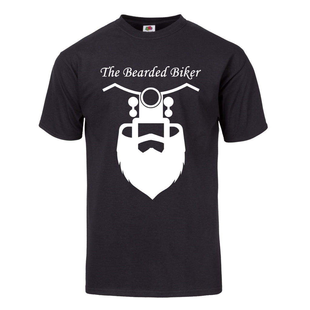 Men's Bearded Biker Black T-Shirt