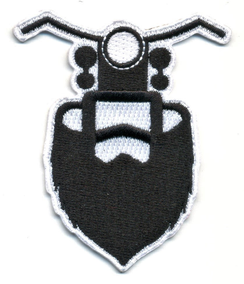 The Bearded Biker Patch (3 sizes)