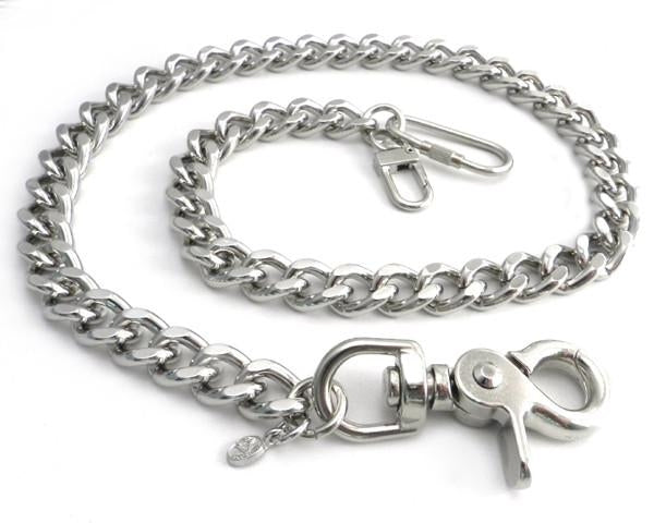 "16"" Cut Leash Chrome Wallet Chain"