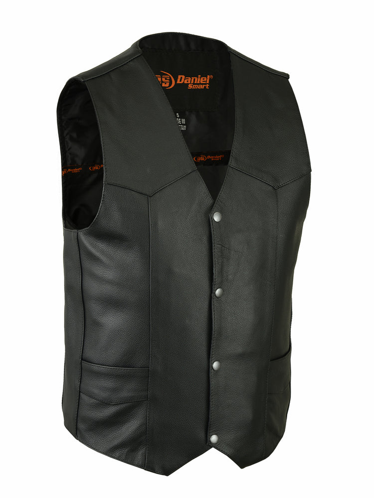 Men's Traditional Light Weight Leather Vest