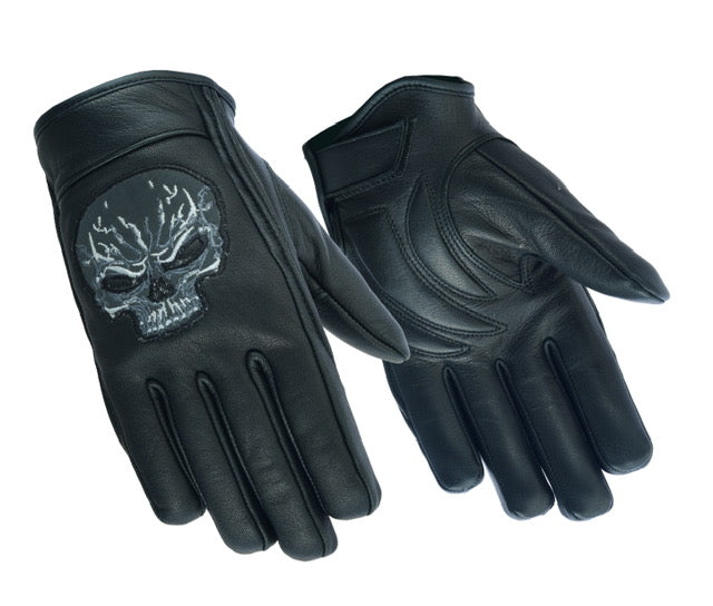 Men's Reflective Skull Short Glove