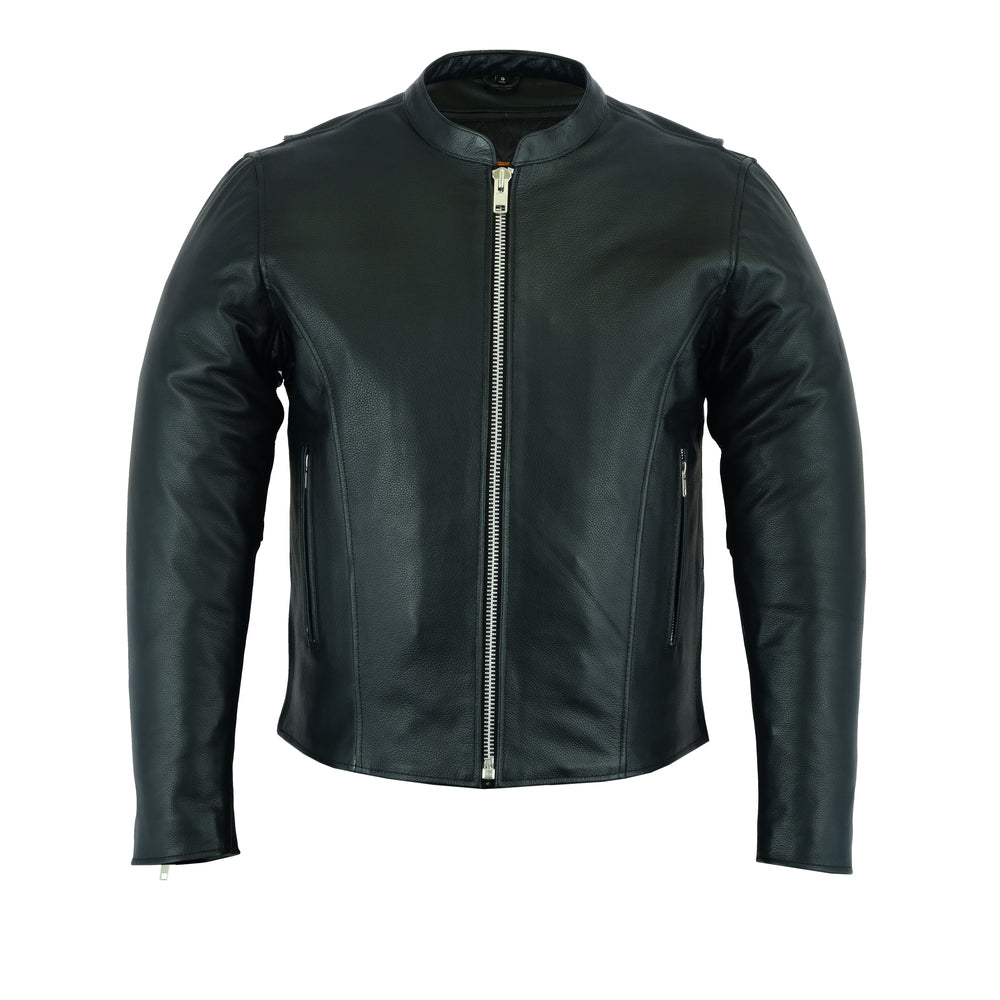 Men's Classic Leather Scooter Jacket