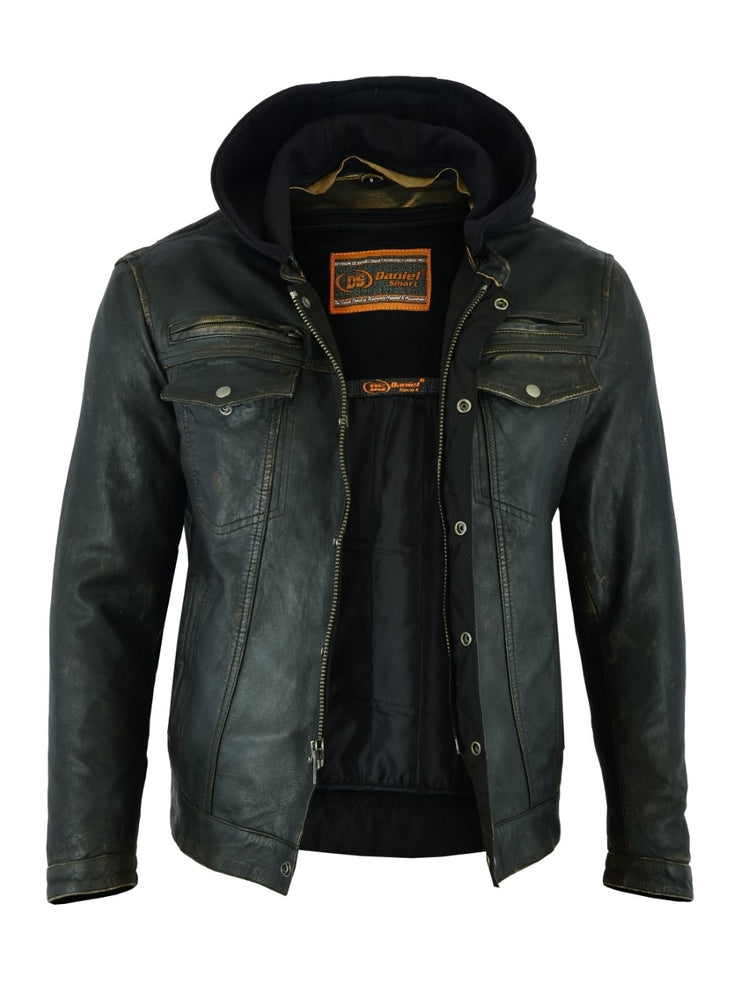Men's Lightweight Distressed Naked Lambskin Jacket
