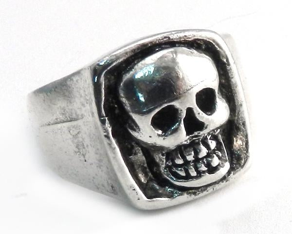 Pewter Skull Face Ring