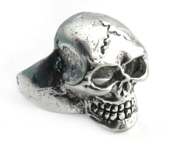 Large Pewter Skull Ring