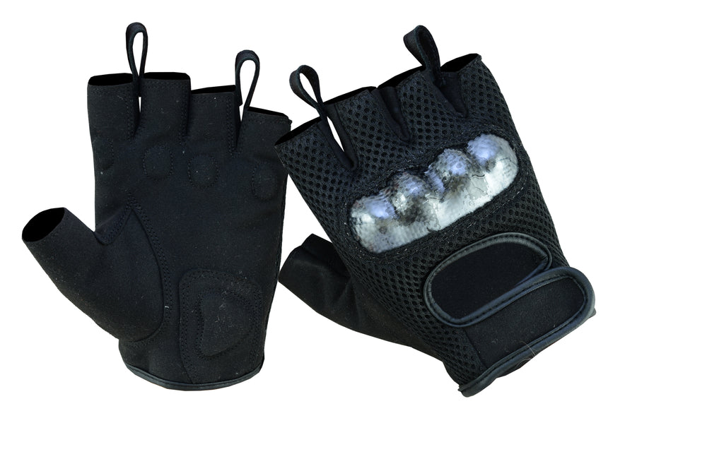 Men's Sporty Mesh Fingerless Glove