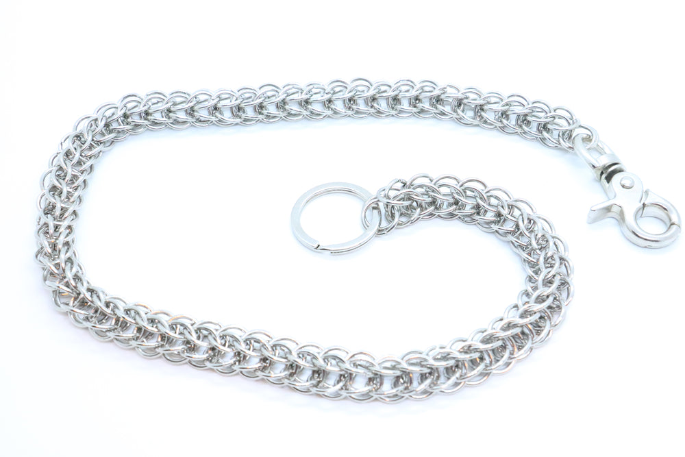 "27"" Braided Link Wallet Chain (3 color options)"
