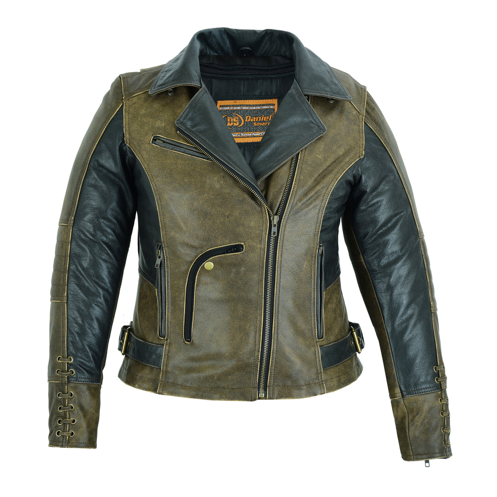 Women's Must Ride Two Tone Leather Jacket