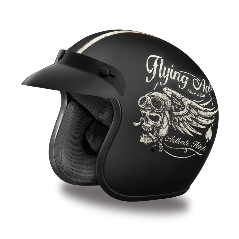 D.O.T. Daytona Cruiser Helmet- Flying Aces