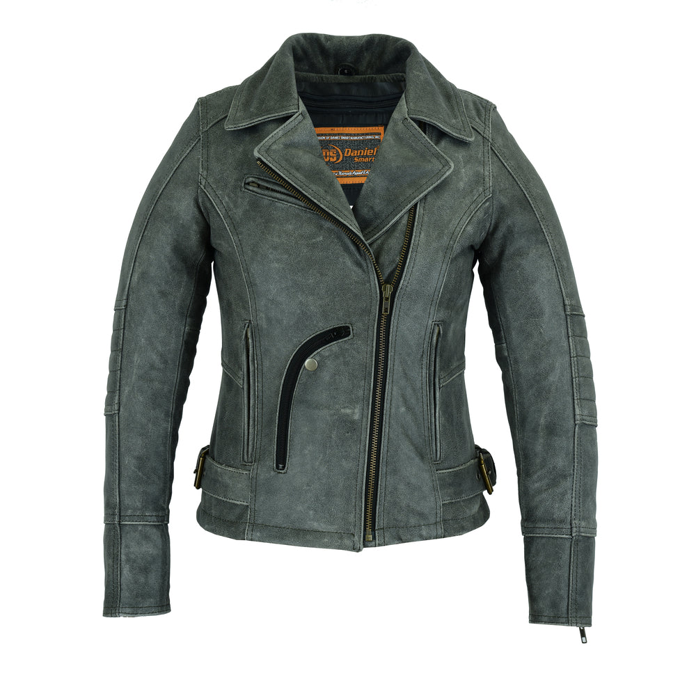 Women's Must Ride Gray Leather Jacket