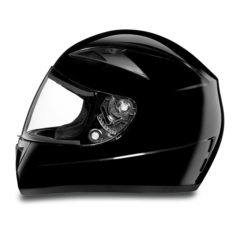 D.O.T. Daytona Shadow Helmet- High Gloss Black