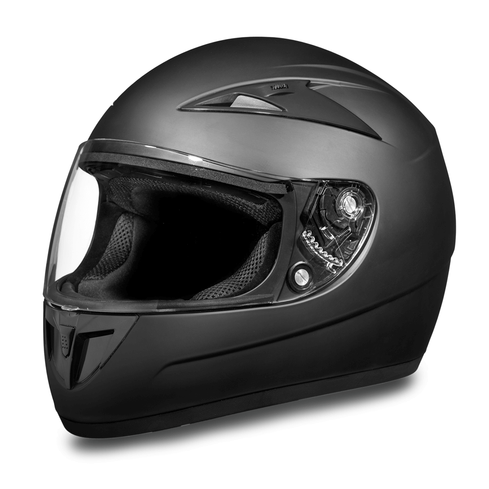 D.O.T. Daytona Shadow Helmet- Dull Black