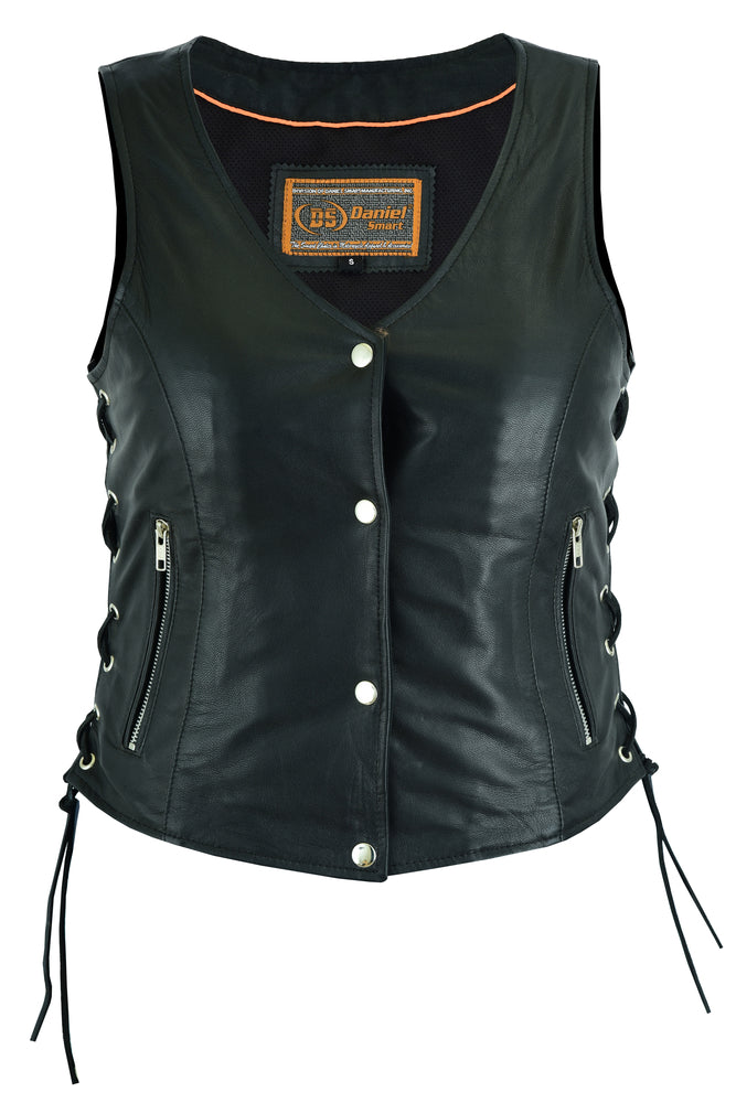Women's Full Cut Great Fit Leather Vest