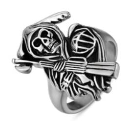 Stainless Steel Reaper Biker Ring
