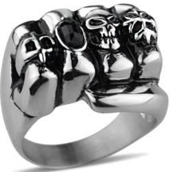Stainless Steel Ring Fist Biker Ring