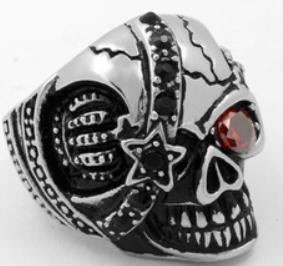 Stainless Steel Pirate Rider Biker Ring