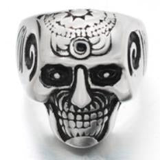 Stainless Steel Brain Saw Biker Ring