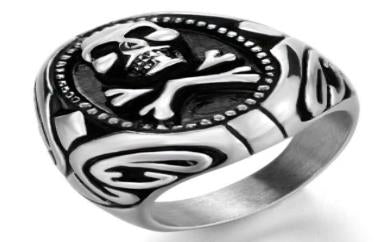 Stainless Steel Poison Ivy Biker Ring