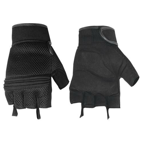 Men's Synthetic Leather/Mesh Fingerless Glove