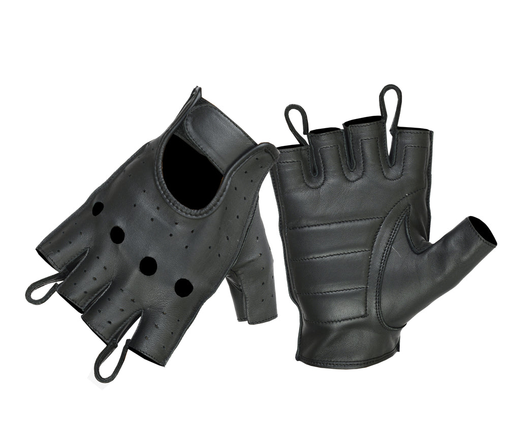 Men's Premium Perforated Fingerless Glove