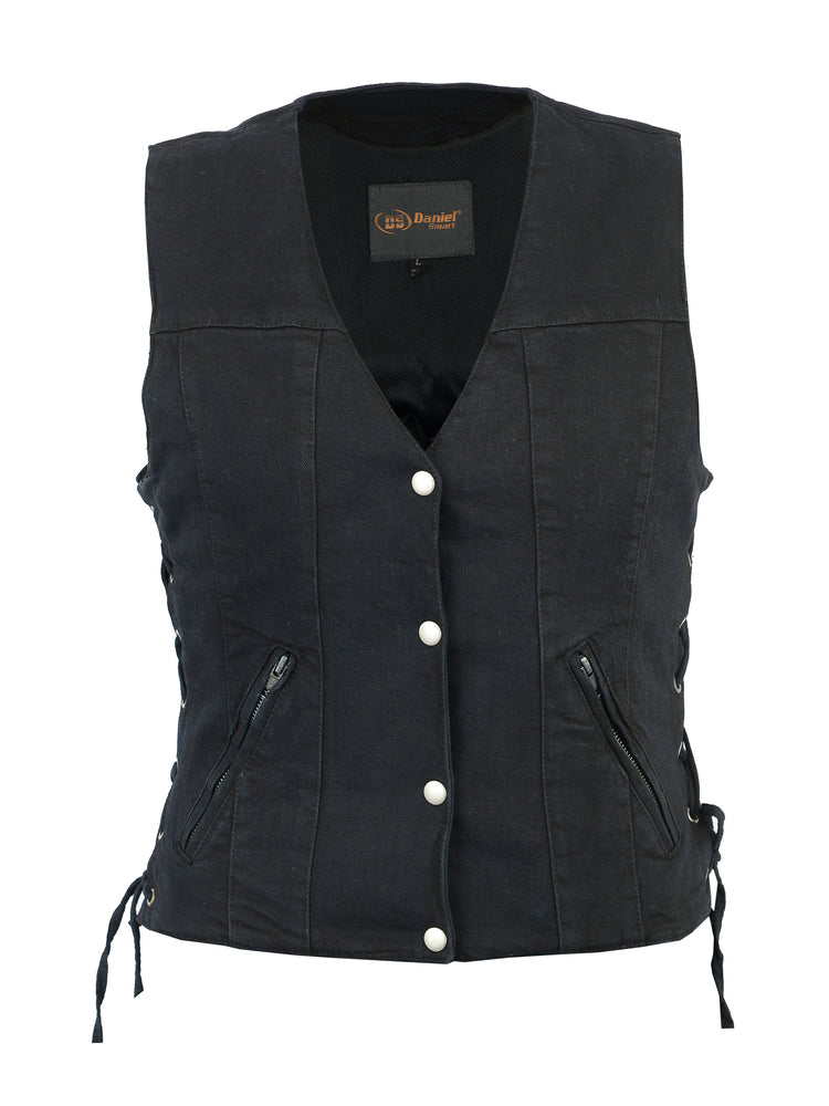 Women's Single Back Panel Denim Vest