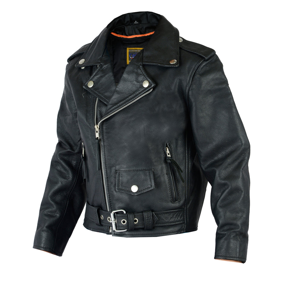 Kid's Traditional Style Leather M/C Jacket