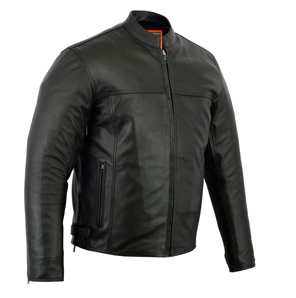 Men's Leather Scooter Jacket