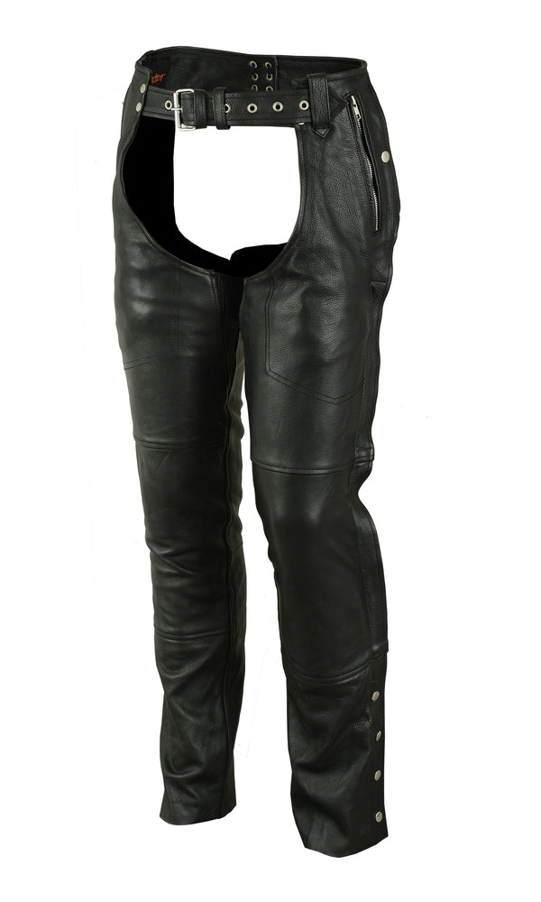 Deep Hip Pocket Thermal Lined Chaps (3 leather options)