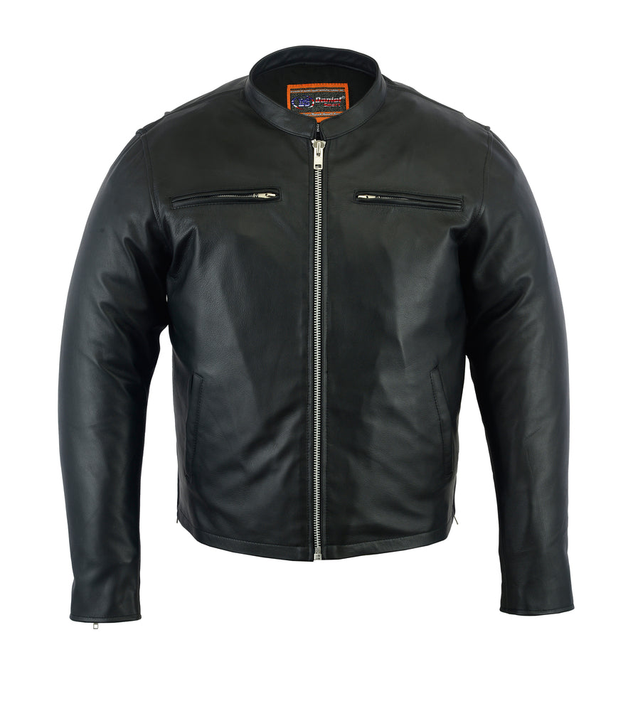 Men's Sporty Leather Cruiser Jacket