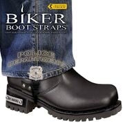 "Police Department 6"" Boot Straps"
