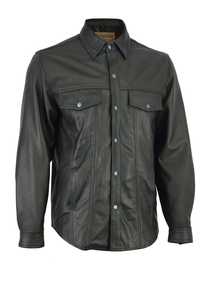 Men's Premium Lightweight Leather Shirt