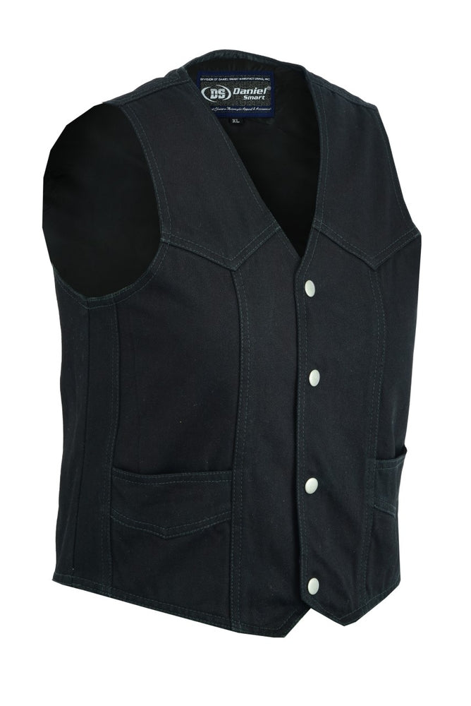Kid's Traditional Style Plain Side Denim Vest