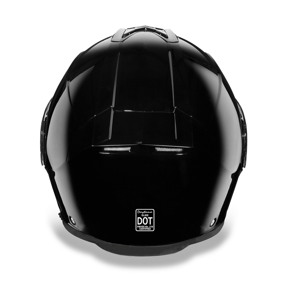 D.O.T. Daytona Glide Helmet- High Gloss Black