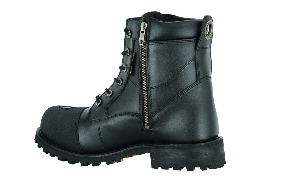 Men's Side Zipper Waterproof Leather Ankle Protection Boots