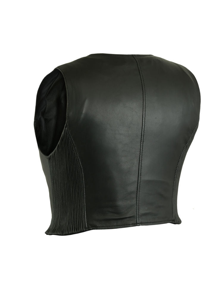 Women's Stylish Leather Lightweight Zipper Vest