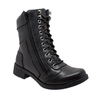 "Women's 8"" Lace & Zipper Leather Boot"