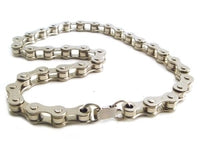 Bike Chain Choker Necklace (Nickle or Black)