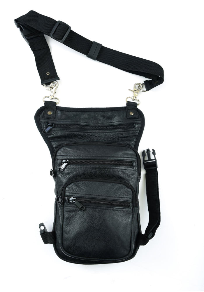 Premium Leather Thigh Bag w/ Waist Belt