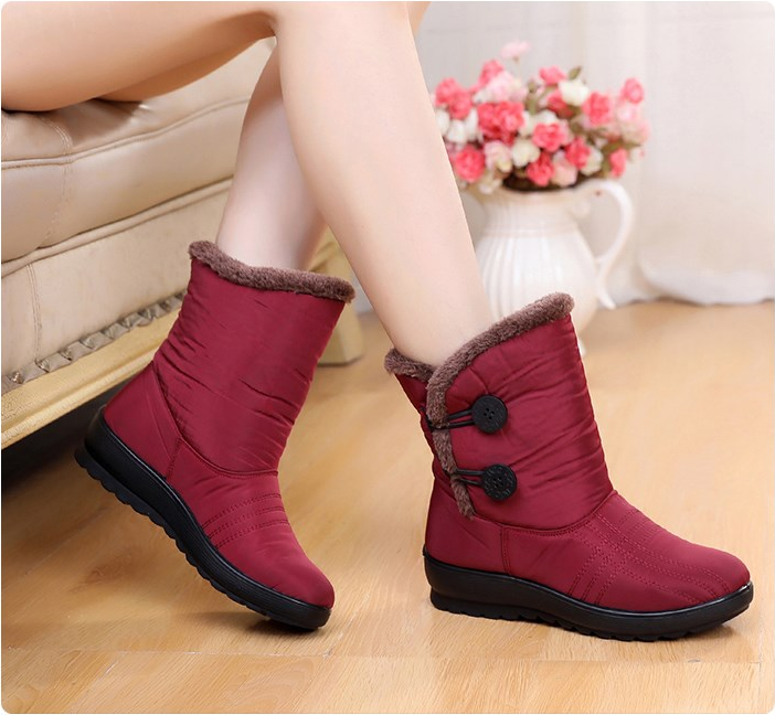 Best Women's Waterproof Elastic Buckle Band Winter Boots