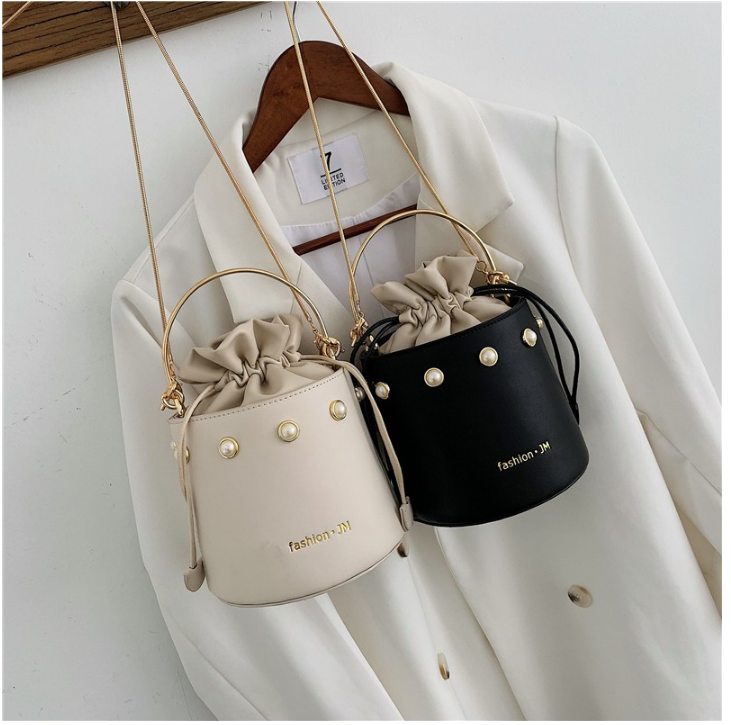 Vintage Women Small Bucket Bag