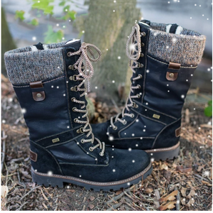 Women's Arch Support Adjustable Lace Up Zipper Boots