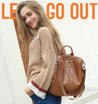 Anti-theft Multifunctional Feminina Leather Mochila